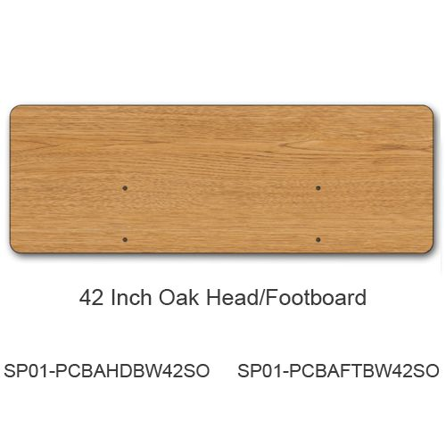 42 Inch Headboard/Footboard, Oak (for bed model #s PCB301, PCB601, PCB901)