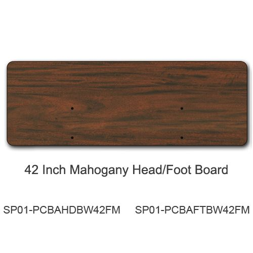 42 Inch Headboard/Footboard, Mahogany (for bed model #s PCB301, PCB601, PCB901)