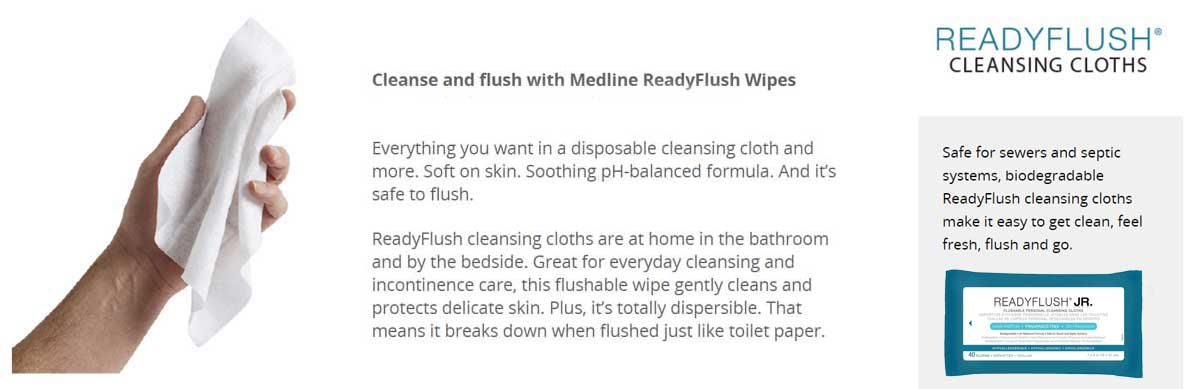 ReadyFlush Jr Wipes