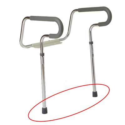 Toilet Safety Frame Rubber Crutch Tips
