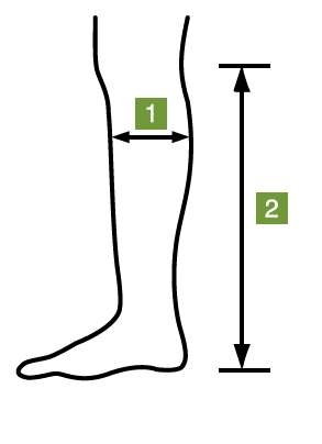 Knee Length Compression  Stocking Measurement Pattern