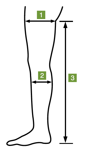 Leg Length Compression Anti-Embolism Stocking Measurement Pattern