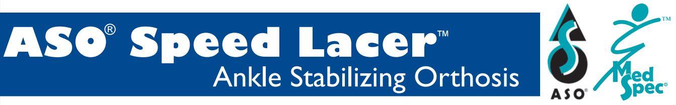 Med Spec Ankle Stabilizing Orthosis Banner