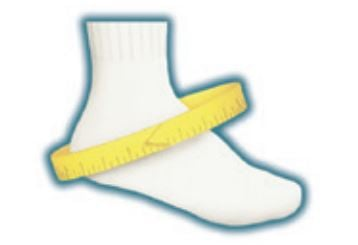ASO Ankle Brace Speed Lacer Measuring Diagram
