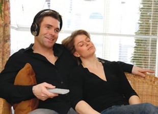 Unisar J3 TV Listening Device in Use